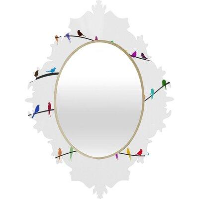 DENY Designs Belle 13 Happy Spring Baroque Mirror