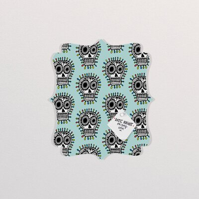 DENY Designs Andi Bird Sugar Skull Fun Quatrefoil Memo Board