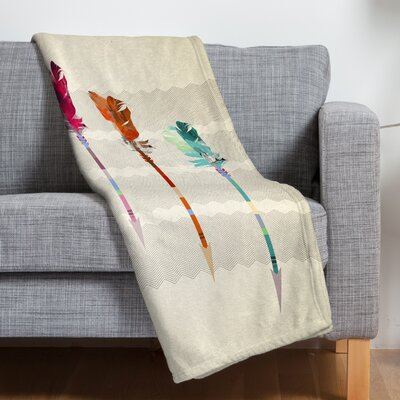 DENY Designs Iveta Abolina Feathered Arrows Polyesterrr Fleece Throw Blanket