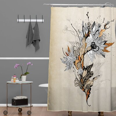 DENY Designs Iveta Abolina Polyester Floral 1 Shower Curtain