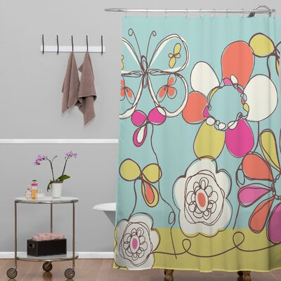 DENY Designs Rachael Taylor Polyester Fun Floral Shower Curtain