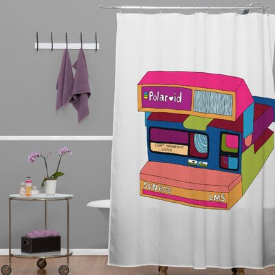 DENY Designs Bianca Woven Polyester Captures Great Moments Shower Curtain