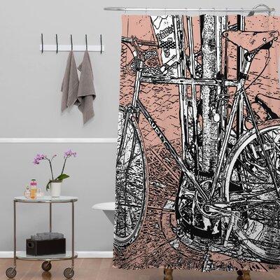 DENY Designs Romi Vega Polyester Bike Shower Curtain