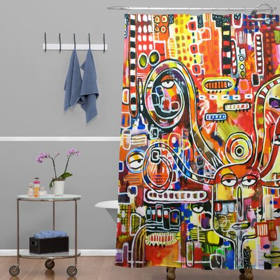 DENY Designs Robin Faye Gates Polyester It Came from Detroit Shower Curtain