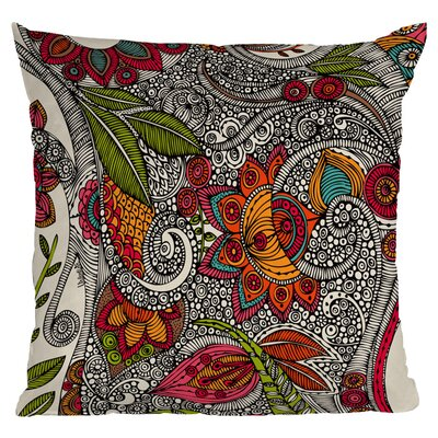 DENY Designs Valentina Ramos Random Flowers Polyester Throw Pillow