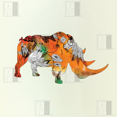 DENY Designs Iveta Abolina Polyester Rhino Shower Curtain