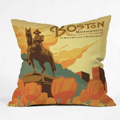 DENY Designs Anderson Design Group Boston Indoor/Outdoor Polyester Throw Pillow