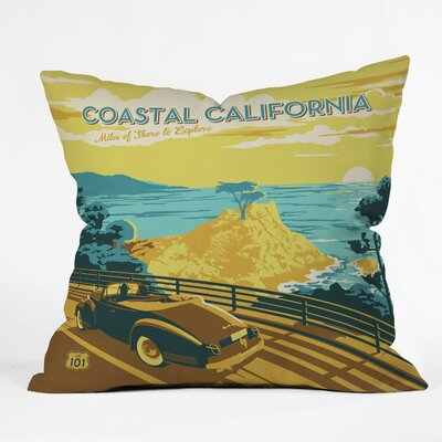 DENY Designs Anderson Design Group Coastal California Woven Polyester Throw Pillow