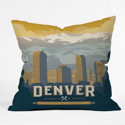 DENY Designs Anderson Design Group Denver 1 Indoor/Outdoor Polyester Throw Pillow