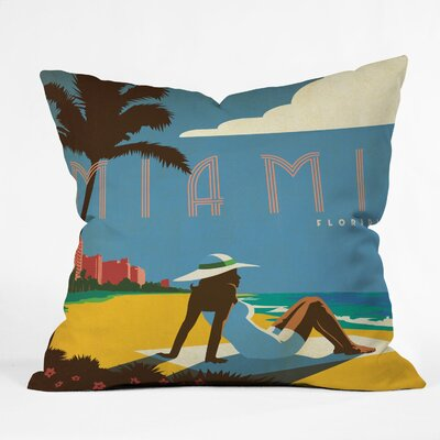 DENY Designs Anderson Design Group Miami Woven Polyester Throw Pillow
