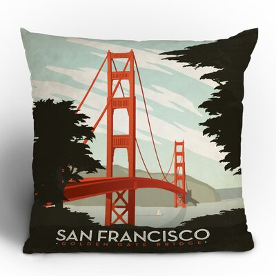 Anderson Design Group San Francisco Woven Polyester Throw Pillow