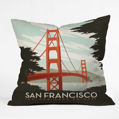 DENY Designs Anderson Design Group San Francisco Woven Polyester Throw Pillow