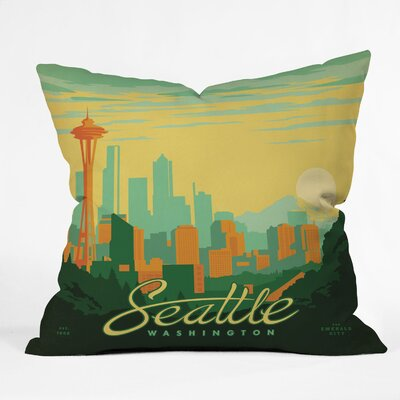 DENY Designs Anderson Design Group Seattle Indoor/Outdoor Polyester Throw Pillow
