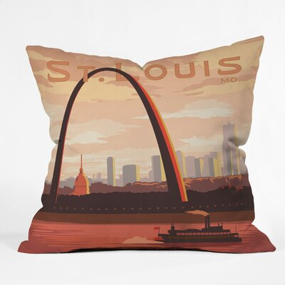 DENY Designs Anderson Design Group Saint Louis Woven Polyester Throw Pillow