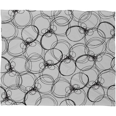 DENY Designs Rachael Taylor Circles Polyester Fleece  Throw Blanket