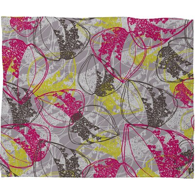 DENY Designs Rachael Taylor Organic Retro Leaves Polyester Fleece Throw Blanket
