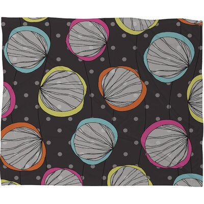 DENY Designs Rachael Taylor Scribble Shells Polyester Fleece Throw Blanket