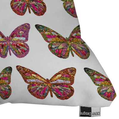 DENY Designs Bianca Green Butterflies Fly Woven Polyester Throw Pillow