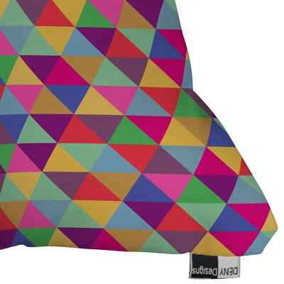 DENY Designs Bianca Green In Love with Triangles Indoor/Outdoor Polyester Throw Pillow