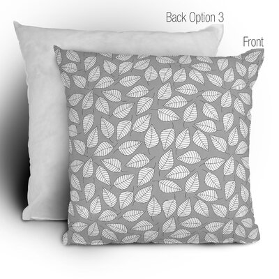 DENY Designs Bianca Green Leafy Woven Polyester Throw Pillow