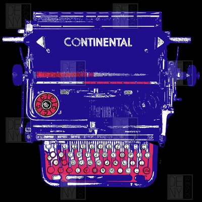 DENY Designs Romi Vega Continental Typewriter Shower Curtain