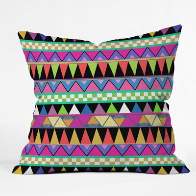 DENY Designs Bianca Green Zigzag Polyester Throw Pillow