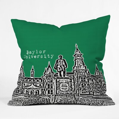 DENY Designs Bird Ave University Indoor/Outdoor Polyester Throw Pillow