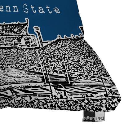 DENY Designs Bird Ave Penn State University Woven Polyester Throw Pillow