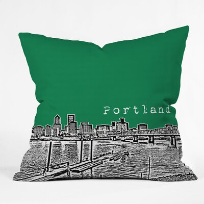 DENY Designs Bird Ave Portland Indoor/Outdoor Polyester Throw Pillow