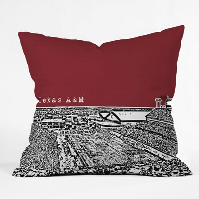 DENY Designs Bird Ave Texas A and M Woven Polyester Throw Pillow