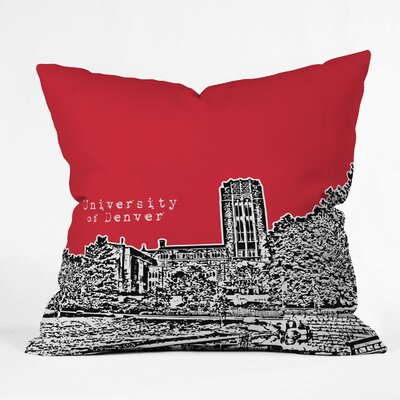 DENY Designs Bird Ave University of Denver Woven Polyester Throw Pillow