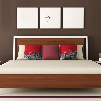 DENY Designs Bird Ave University of Denver Woven Polyester Throw Pillow