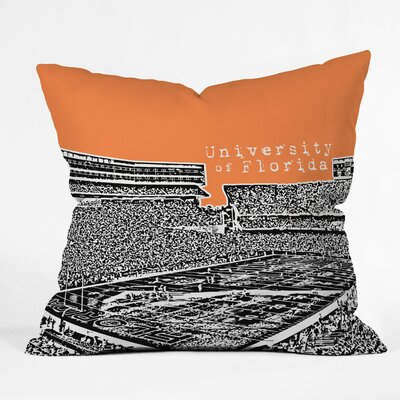 Bird Ave University of Florida Woven Polyester Throw Pillow