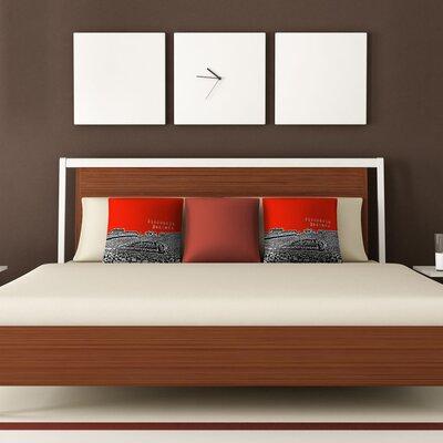 DENY Designs Bird Ave Wisconsin Badgers Woven Polyester Throw Pillow