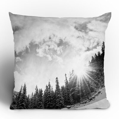 DENY Designs Bird Wanna Whistle Mountain Woven Polyester Throw Pillow