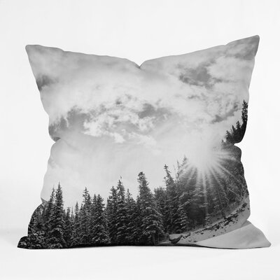 Bird Wanna Whistle Mountain Woven Polyester Throw Pillow