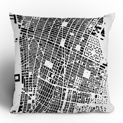 DENY Designs CityFabric Inc Polyester NYC Indoor/Outdoor Throw Pillow