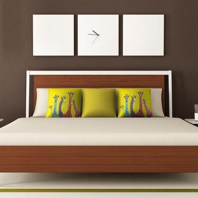DENY Designs Clara Nilles Jellybean Giraffes Woven Polyester Throw Pillow