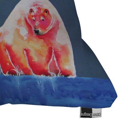 DENY Designs Clara Nilles Polarbear Blush Indoor / Outdoor Polyester Throw Pillow