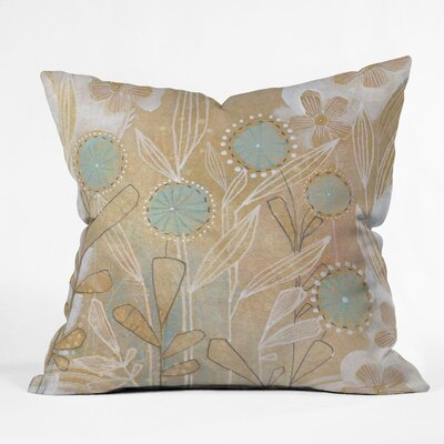DENY Designs Cori Dantini Blue Floral Throw Pillow