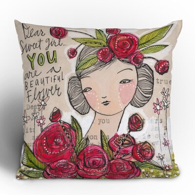 DENY Designs Cori Dantini Dear Sweet Girl Woven Polyester Throw Pillow