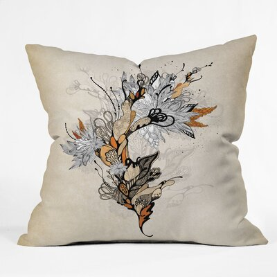 DENY Designs Iveta Abolina Floral 1 Indoor / Outdoor Polyester Throw Pillow