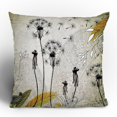 DENY Designs Iveta Abolina Little Dandelion Woven Polyester Throw Pillow