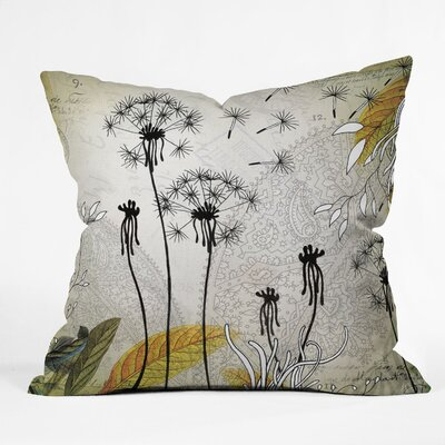 DENY Designs Iveta Abolina Little Dandelion Indoor / Outdoor Polyester Throw Pillow