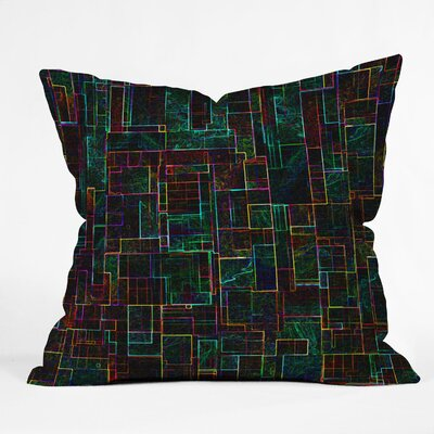 DENY Designs Jacqueline Maldonado Matrix Indoor / Outdoor Polyester Throw Pillow