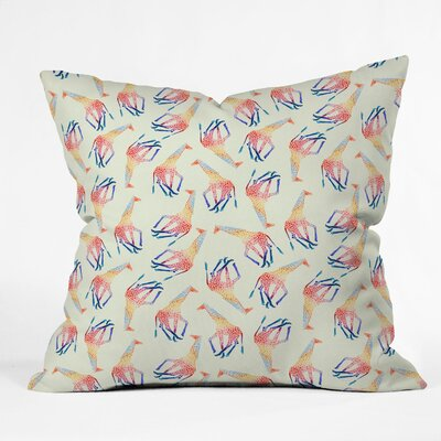 DENY Designs Jacqueline Maldonado Watercolor Giraffe Indoor / Outdoor Polyester Throw Pillow