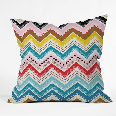 Khristian A Howell Nolita Chevrons Indoor / Outdoor Polyester Throw Pillow