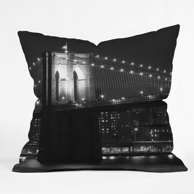 DENY Designs Leonidas Oxby Brooklyn Bridge 125 Woven Polyester Throw Pillow
