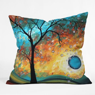 DENY Designs Madart Inc Burn Indoor / Outdoor Polyester Throw Pillow