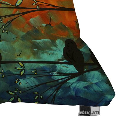 DENY Designs Madart Inc  Birds Of A Feather Indoor / Outdoor Polyester Throw Pillow